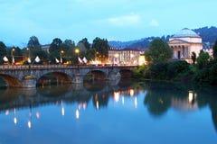 Vittorio Emanuele I brug, Turijn, Italië Stock Afbeelding