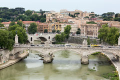 Vittorio Emanuele II Bridge in Rome Royalty Free Stock Photo
