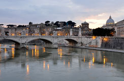 Vittorio Emanuele II bridge in Rome Royalty Free Stock Photography