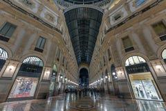 Vittorio Emanuele II galeria - Mediolan, Włochy zdjęcie stock