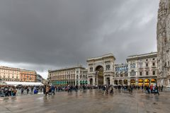 Vittorio Emanuele II galeria - Mediolan, Włochy obraz royalty free