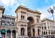 Vittorio Emanuele II galeria w centrum Mediolan, Włochy zdjęcie stock