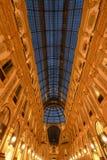 Vittorio Emanuele II Galerij - Milaan, Italië royalty-vrije stock foto's