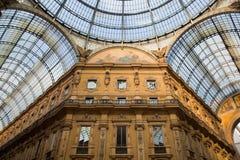 Vittorio Emanuele II galleri. Milan Italien royaltyfri bild