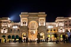 Vittorio Emanuele II galleri. Milan Italien arkivbild