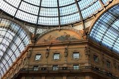 Vittorio Emanuele II galleri Milan Italien Arkivfoton