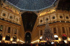 Vittorio Emanuele II gallery at Christmas Royalty Free Stock Images