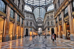 Milano Gallery. Exclusive shopping gallery with many elegant boutiques and fashion creator outlets in Milano, Lombardy, Italy Stock Image