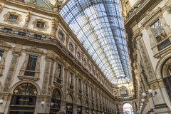 Vittorio Emanuele II gallery - is an historic shopping arcade si Royalty Free Stock Photography