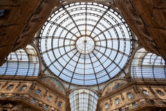 Vittorio Emanuele II Gallery in Milan Royalty Free Stock Photography