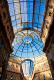 Vittorio Emanuele II Gallery in Milan Stock Photography