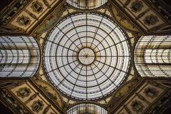 Vittorio Emanuele II Gallery, Milan royalty free stock photography
