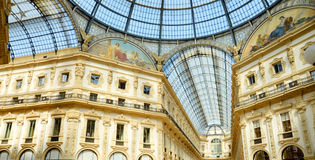 Vittorio Emanuele II Gallery in Milan Stock Photo