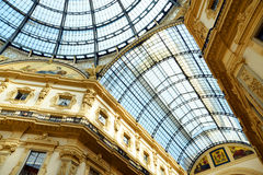 Vittorio Emanuele II Gallery in Milan Stock Images