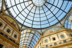 Vittorio Emanuele II Gallery in Milan Royalty Free Stock Photo