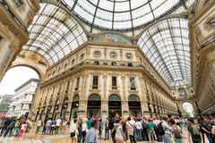 Vittorio Emanuele II Gallery in Milan, Italy Royalty Free Stock Photography