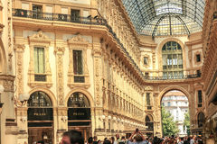 Vittorio Emanuele II Gallery. Milan, Italy royalty free stock photo