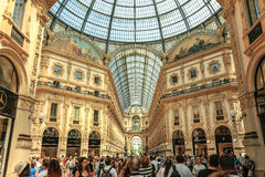 Vittorio Emanuele II Gallery. Milan, Italy Stock Image