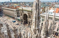 Vittorio Emanuele II Gallery and piazza del Duomo in Milan Stock Photo