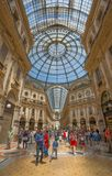 Vittorio Emanuele II Gallery, shopping mall near Duomo Square, Milan, Italy stock image