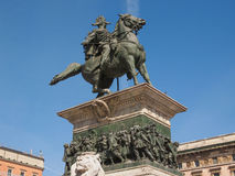 Vittorio Emanuele II monument in Milan Stock Photo