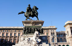 Vittorio Emanuele II monument, Milan Royalty Free Stock Photos