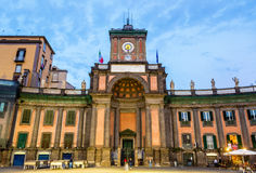 Vittorio Emanuele II National Boarding School, historical and religious complex in Naples Stock Image