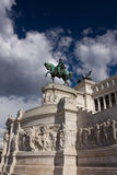 Vittorio Emanuele II statue in Rome Italy Royalty Free Stock Photo