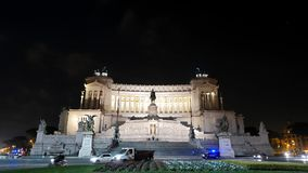 Vittorio Emanuele II (Vittoriano). Night. Zoom. R stock video