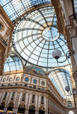 Vittorio Emanuele Milan shopping mall corridor Royalty Free Stock Image