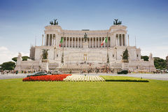 Vittorio Emanuele monument in the city of Rome, Italy. Stock Image