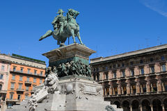 Vittorio Emanuele monument in Milan, Italy Royalty Free Stock Photography