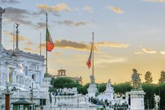 Vittorio Emanuele Monument, Rome, Italie Photographie stock libre de droits
