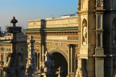 Vittorio Emanuele passage. Royalty Free Stock Image