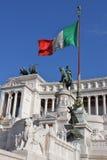 Vittorio Emanuele in Rom lizenzfreie stockbilder