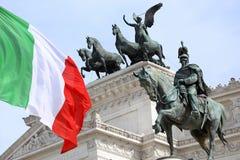 Vittorio Emanuele a Roma, Italia Fotografia Stock Libera da Diritti