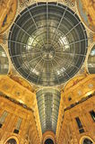 Vittorio Emanuele shopping gallery ceiling details Royalty Free Stock Images