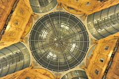 Vittorio Emanuele shopping gallery ceiling details Royalty Free Stock Photos