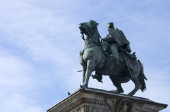Vittorio Emanuele statue in Milan Royalty Free Stock Photography