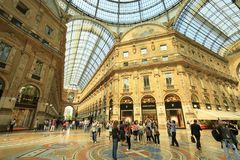 Vittorio emanuelle gallery Royalty Free Stock Photo