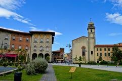 Vittorio Emanuelle square. A small square in Pisa Stock Photos