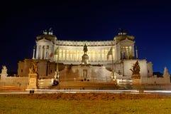 Vittorio Emmanuel em Noite imagem de stock royalty free