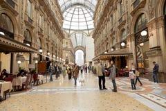 Vittorio Emmanuele II shopping gallery Stock Photos