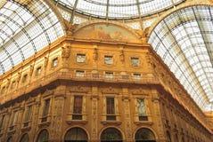 Vittorio Emmanuelle Glasgalerie Stockfotos