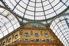 vittorio för emanuele galleria ii italy milan fotografering för bildbyråer