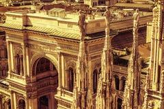 vittorio för emanuele galleria ii italy milan Arkivfoton