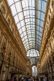 vittorio för emanuele galleria ii italy milan royaltyfri bild