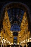 Vittorio Galeria Emanuele II Mediolan, Włochy Zdjęcia Royalty Free