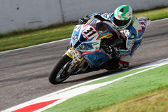 Vittorio Iannuzzo #31 on BMW S1000 RR with Grillini DENTALMATIC SBK Team WSBK stock photography