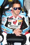 Vittorio Iannuzzo #31 på BMW S1000 RR med det Grillini DENTALMATIC SBK laget WSBK Arkivbild